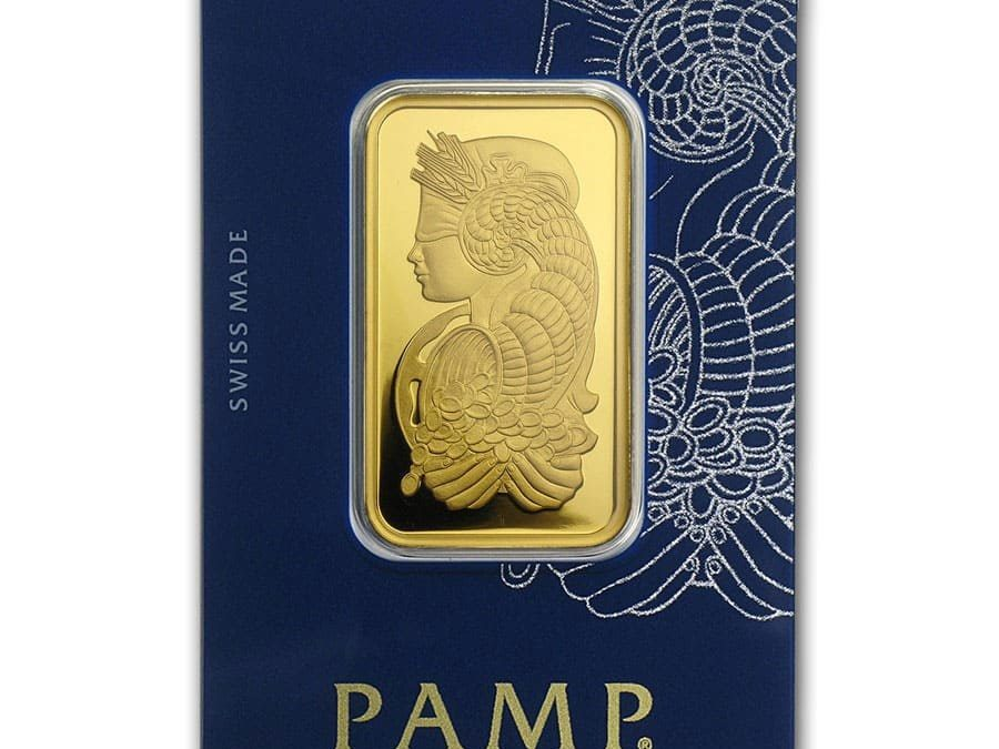 1 oz Gold Bar – PAMP Suisse Lady Fortuna Veriscan® (In Ass…