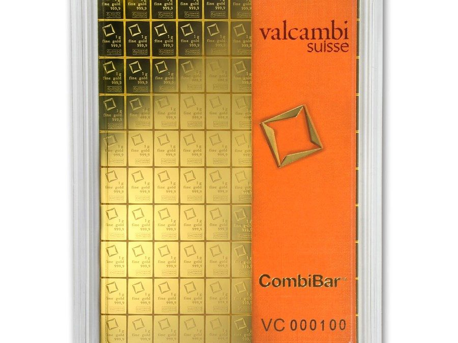 100 x 1 gram Gold Valcambi CombiBar™ (In Assay)