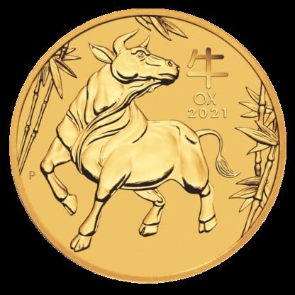 2 oz Lunar III Ox Gold Coin (2021)(Front)