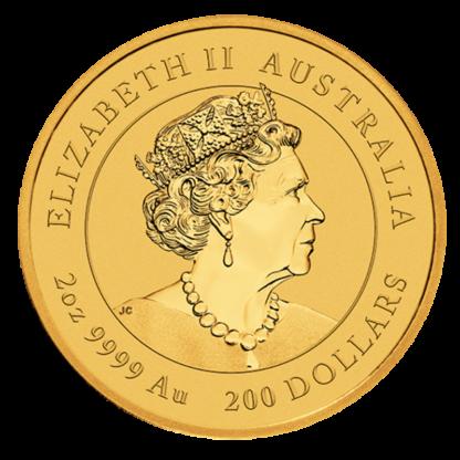 2 oz Lunar III Ox Gold Coin (2021)(Back)