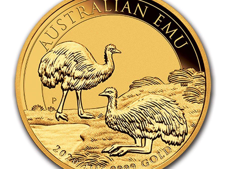 2020 Australia 1 oz Gold Emu BU