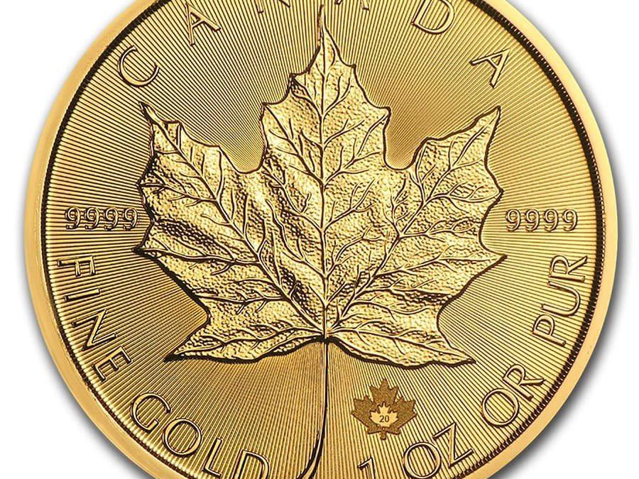 2020 Canada 1 oz Gold Maple Leaf BU
