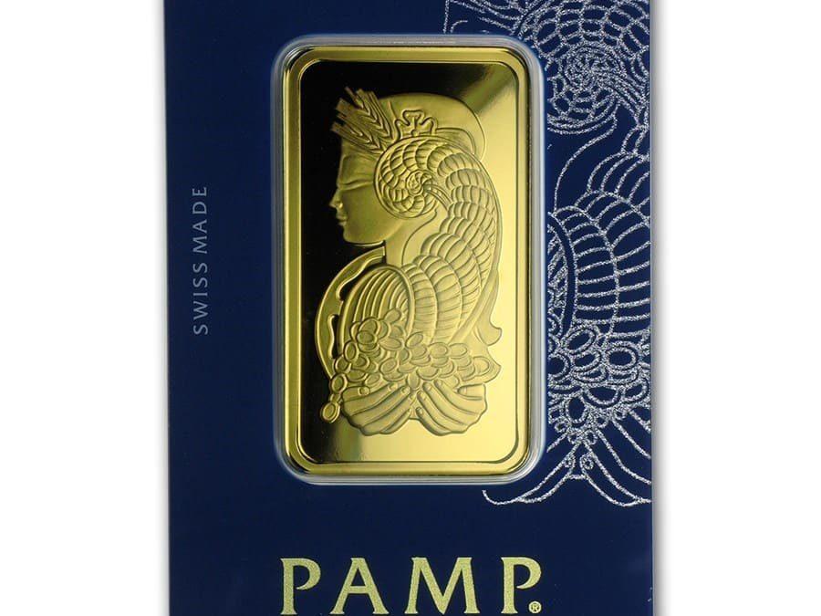 50 gram Gold Bar – PAMP Suisse Fortuna Veriscan (In Assay)