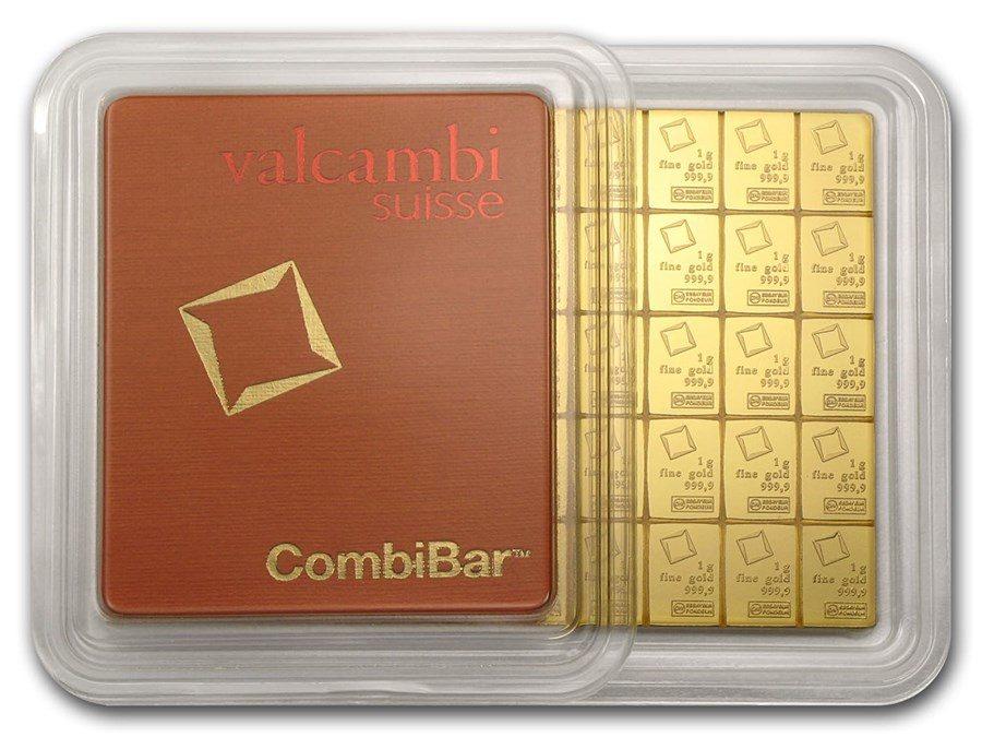50 x 1 gram Gold Valcambi CombiBar™ (In Assay)