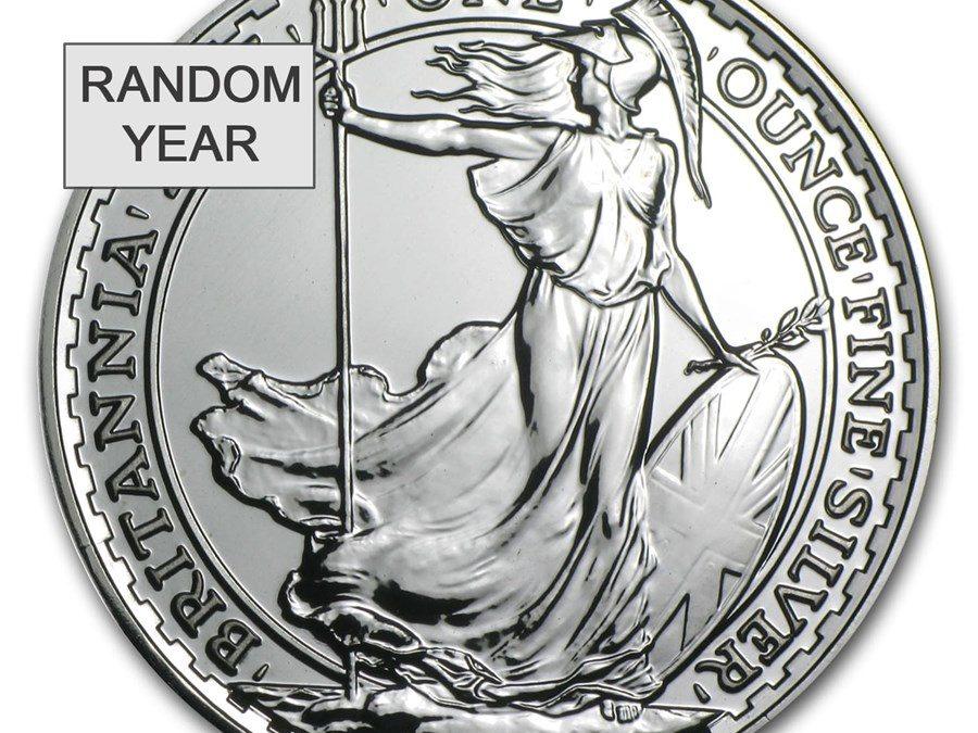Great Britain 1 oz Silver Britannia BU (Random Year)
