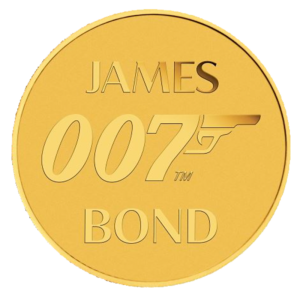 James Bond 007 Gold Coin (2020)(Front)