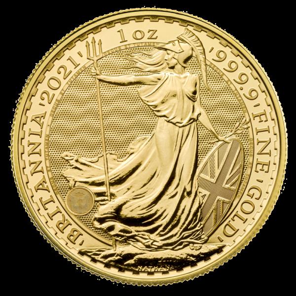 1 oz Britannia Gold Coin (2021)(Front)