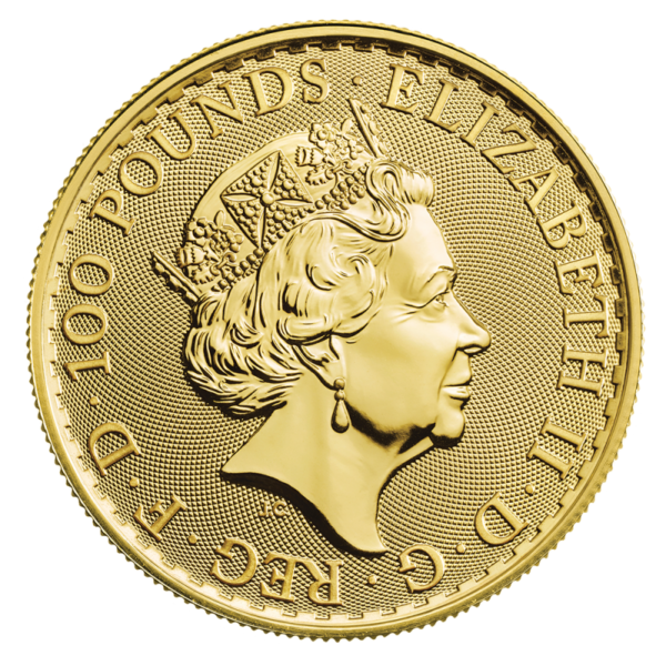 1 oz Britannia Gold Coin (2021)(Back)