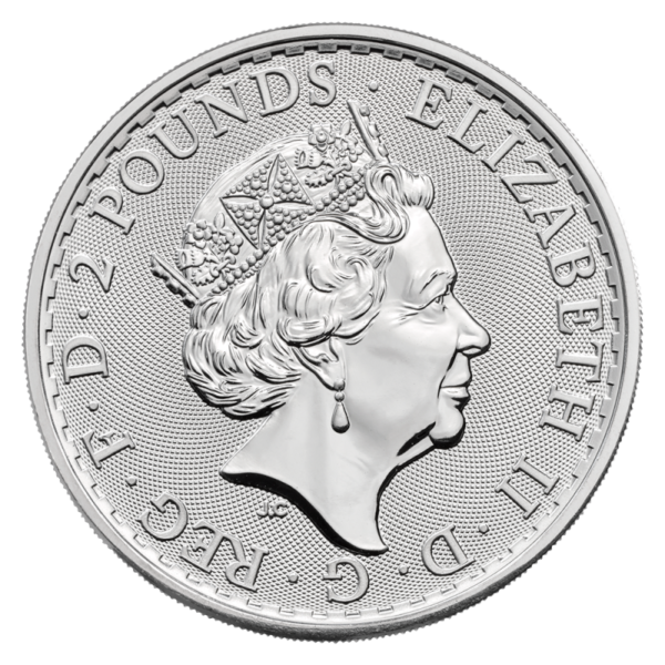 1 oz Britannia Silver Coin (2021)(Back)