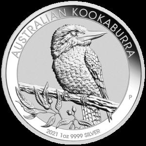 1 oz Kookaburra Silver Coin (2021)(Front)