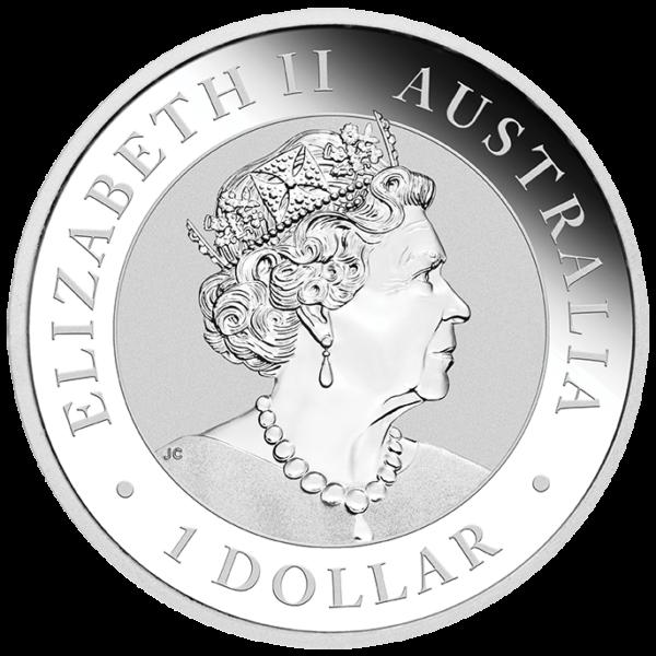 1 oz Kookaburra Silver Coin (2021)(Back)