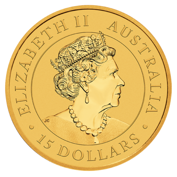 1/10 oz Kangaroo Gold Coin (2021)(Back)