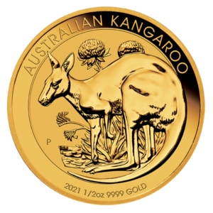 1/2 oz Kangaroo Gold Coin (2021)(Front)