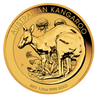 1/2 oz Kangaroo Gold Coin (2021)(Front)