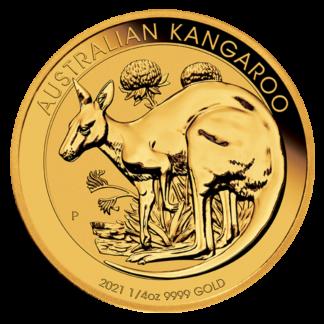 1/4 oz Kangaroo Gold Coin (2021)(Front)