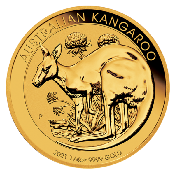 1/4 oz Kangaroo Gold Coin (2021)(Front)