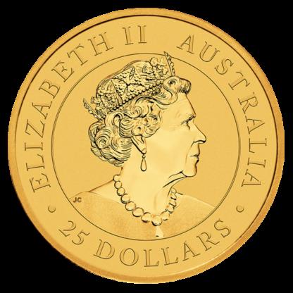 1/4 oz Kangaroo Gold Coin (2021)(Back)