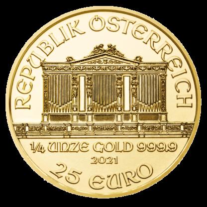 1/4 oz Vienna Philharmonic Gold Coin (2021)(Back)
