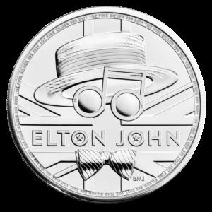 1 oz Elton John Silver Coin (2021)(Front)