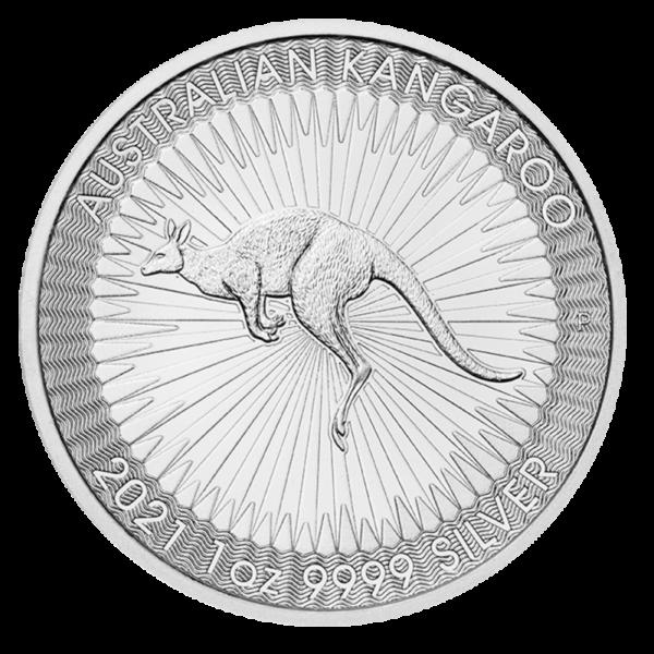 1 oz Kangaroo Silver Coin (2021)(Front)