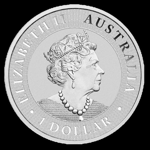 1 oz Kangaroo Silver Coin (2021)(Back)