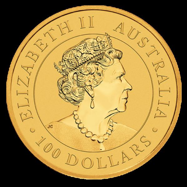 1 oz Kangaroo Gold Coin (2021)(Back)