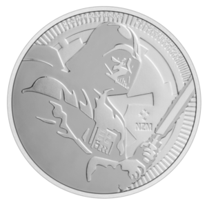 1 oz STAR WARS Darth Vader Silver Coin (2020)(Front)
