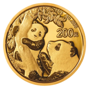 15g China Panda Gold Coin (2021)(Front)