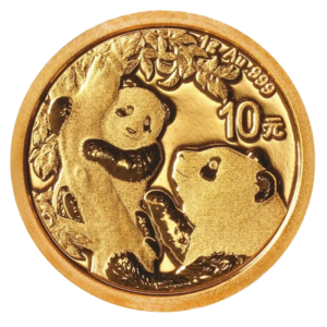 1g China Panda Gold Coin (2021)(Front)
