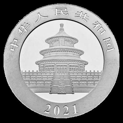 30g China Panda Silver Coin (2021)(Back)