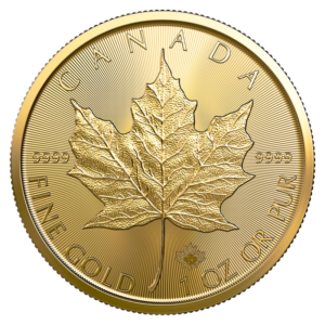 1 oz Maple Leaf Gold Coin (2021)(Front)