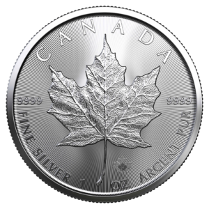 1 oz Silver Maple Leaf Coin (2021)(Front)