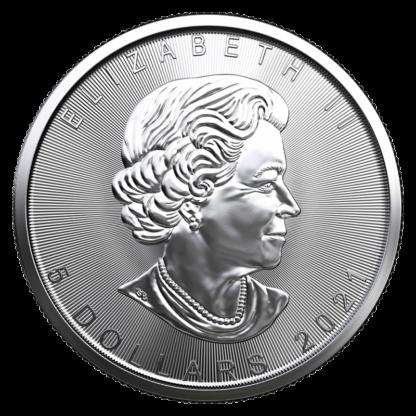 1 oz Silver Maple Leaf Coin (2021)(Back)