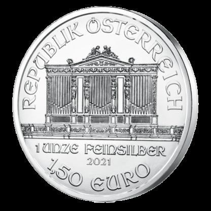 1 oz Vienna Philharmonic Silver Coin (2021)(Back)