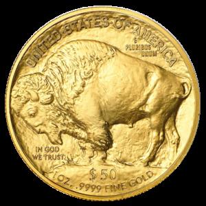 1 oz American Buffalo Gold Coin (2021)(Front)