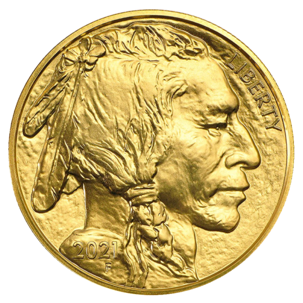 1 oz American Buffalo Gold Coin (2021)(Back)