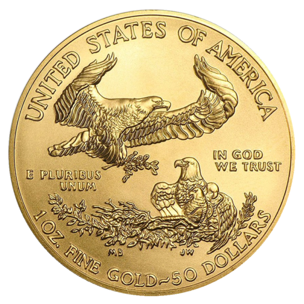 1 oz American Eagle Gold Coin (2021)(Back)