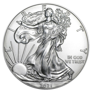 1 oz American Eagle Silver Coin (2021)(Front)