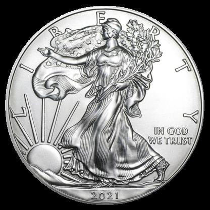 1 oz American Eagle Silver Coin (2021)(Front)