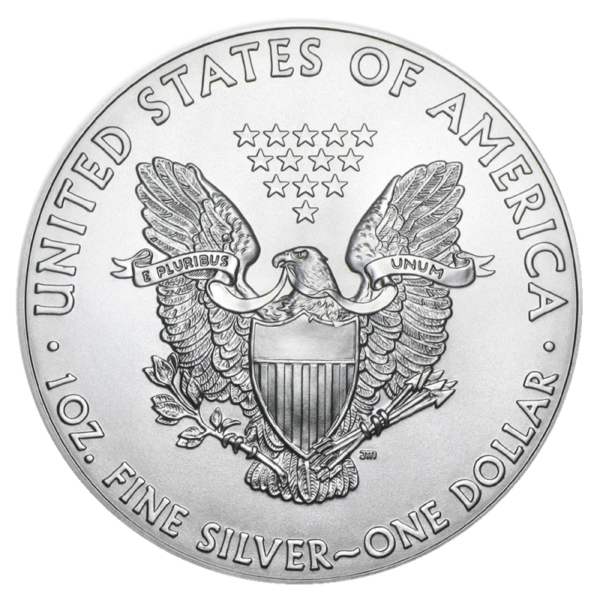 1 oz American Eagle Silver Coin (2021)(Back)