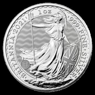 1 oz Britannia Silver Coin (2021)(Front)