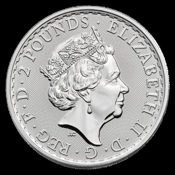 1 oz Britannia Silver Coin (2021)(Back)