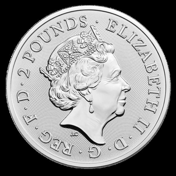 1 oz Elton John Silver Coin (2021)(Back)