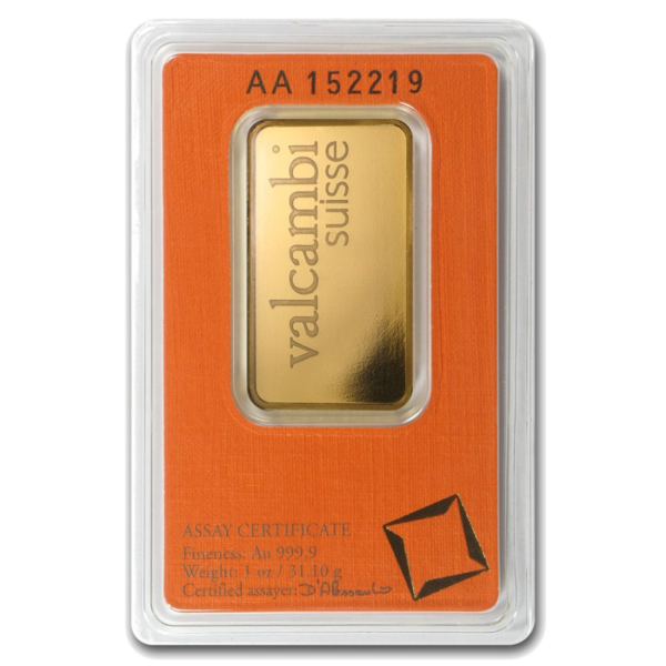 1 oz Gold Bar | Valcambi(Back)