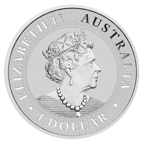 1 oz Kangaroo Silver Coin (2021)(Back)