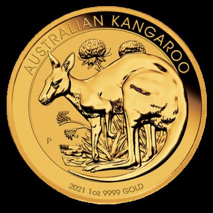 1 oz Kangaroo Gold Coin (2021)(Front)