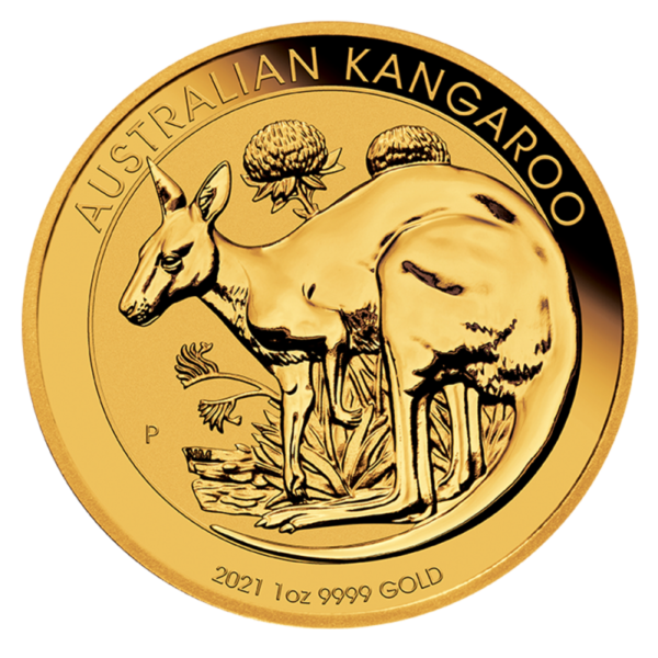 1 oz Kangaroo Gold Coin (2021)(Front)