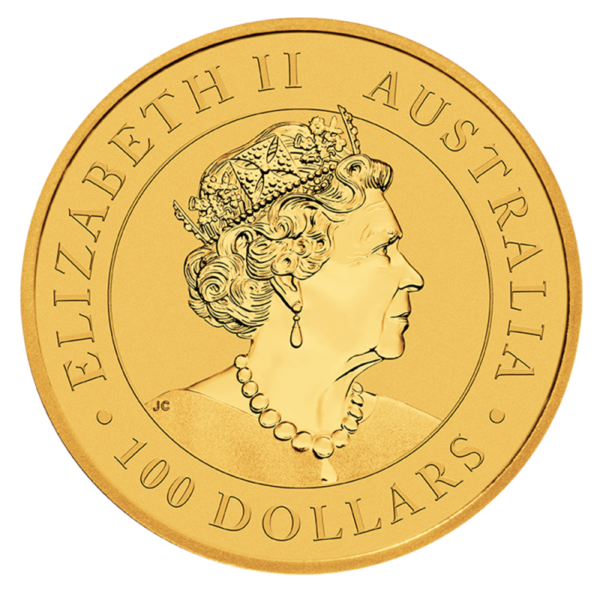 1 oz Kangaroo Gold Coin (2021)(Back)