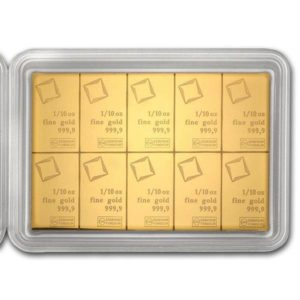 10 x 1/10 oz CombiBar® | Gold | Valcambi(Front)