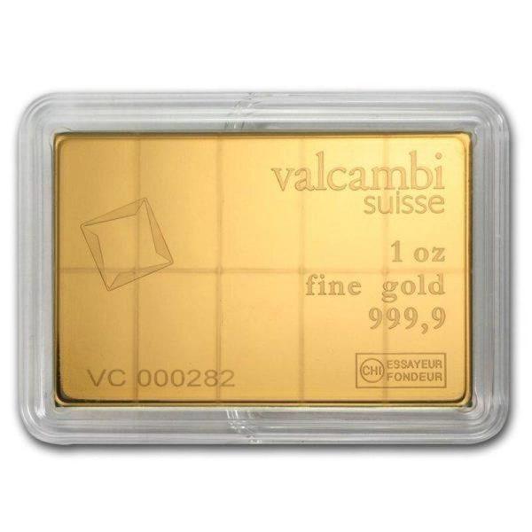 10 x 1/10 oz CombiBar® | Gold | Valcambi(Back)